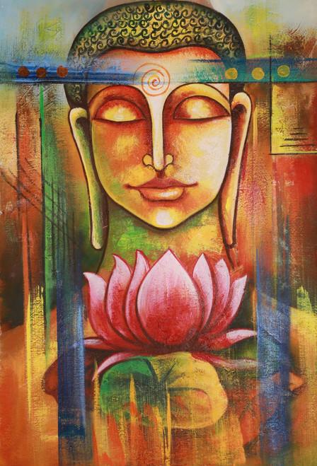 buddha, buddha, with lotus, face of budha, buddha with lotus, smiling buddha