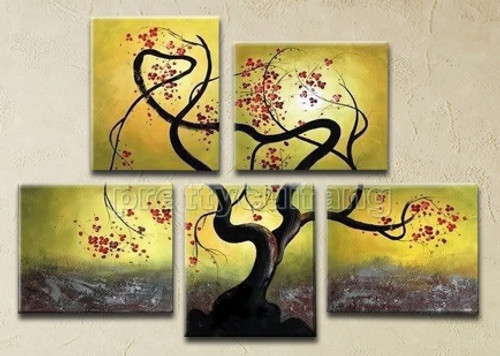 Tree of Life 8 - 68in X 48in (Details Inside),RTCSC_28_6848,Oil Colors,Tree Life,Big Tree,Multi Piece Paintings,Museum Quality - 100% Handpainted - Buy Painting Online in India.