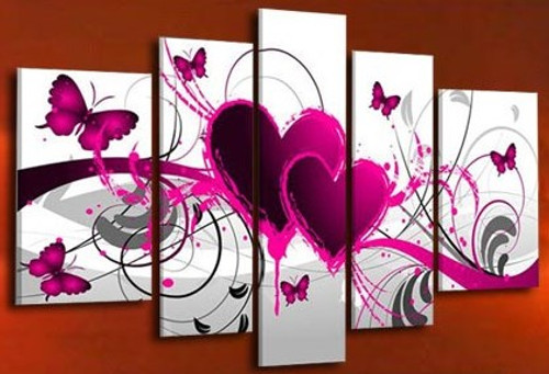 Be in Love - 68in x 32in (Details Inside),RTCSD_15_7240,Trees,Multipiece  - 100% Handpainted Buy Painting Online in India.