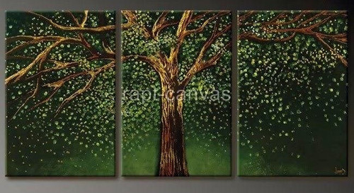 Tree of Life 9 - 48in X 24in (Details Inside),RTCSC_44_4824,Oil Colors,Tree Life,Big Green Tree,Greenary,Multi Piece Paintings,Museum Quality - 100% Handpainted - Buy Painting Online in India.