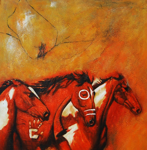 Horse01 - 32in X 32in - Painting