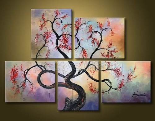 Flow of Time 10 - 68in X 48in (Details Inside),RTCSC_66_6848,Oil Colors,Tree Life,Big Tree,Multi Piece Paintings,Museum Quality - 100% Handpainted - Buy Painting Online in India.