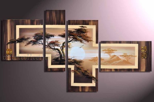 Tree Furnish 5 - 74in X 44in (Details Inside),RTCSC_70_7444,Oil Colors,Museum Quality - 100% Handpainted,Multipiece Paintings,Tree painting,Tree of Life,Beautiful Tree  - Buy Painting Online in India.