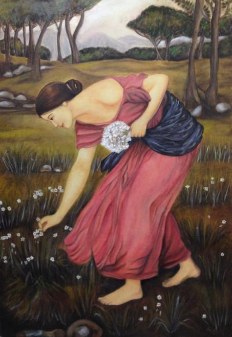 Farming - 24in X 34in (Stretcher Framed),ART_PACA02_2234,Oil Colors,Artist Pooja Chhabra,Figurative,Lady,Farm Online in India