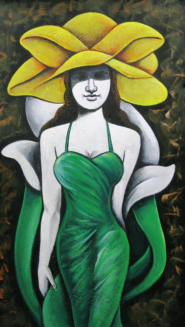 Queen - 15in X 26in,RAJMER60_1526,Acrylic Colors,Lady,Lonley,Hopes,Feelings - Buy Paintings online in India