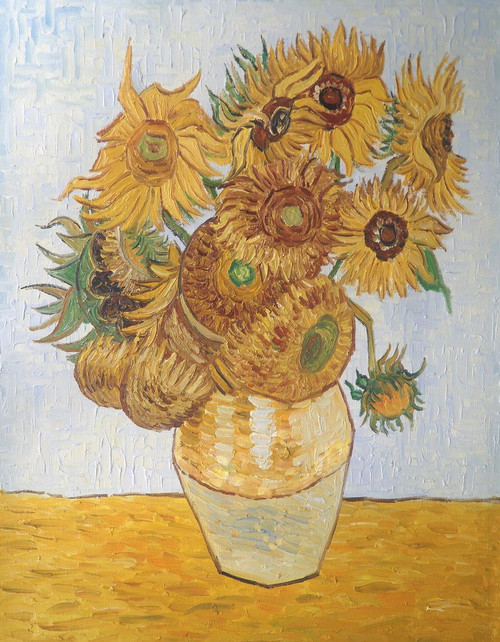 Vase with Fifteen Sunflowers,Flower,Floral