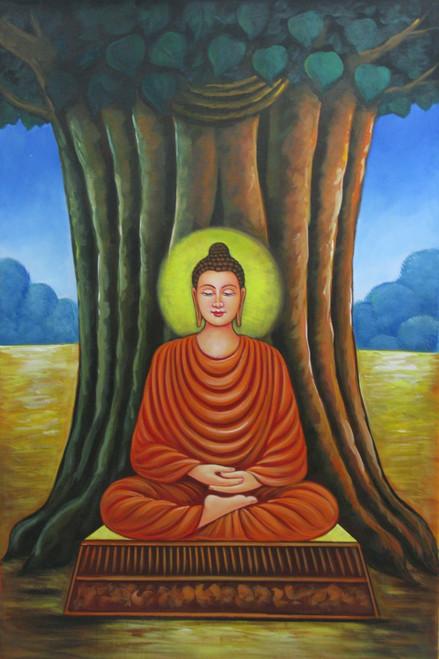 Mahanirvana 01 - 24in X 36in,RAJVEN01_2436,Acrylic Colors,Peace,Buddha,Shanti,Meditation,Buddhism - Buy Paintings online in India