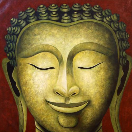 Laughing Rainbow Buddha,Blue Buddha,Meditation,Peace,Smile