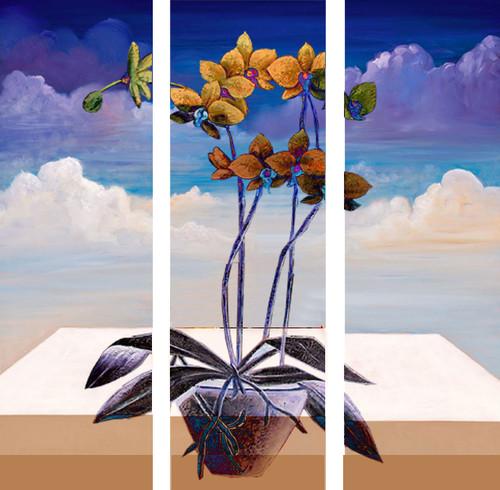 Flower,Floral,Multipiece Flower,Orange Flowers with blue background