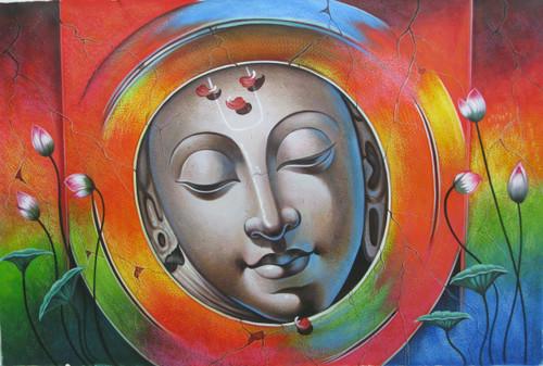 Lord Krishna 01 - 36in X 24in,RAJVEN16_3624,Acrylic Colors,Krishna,Bal Gopala,Shyam ,Murlidhar - Buy Paintings online in India