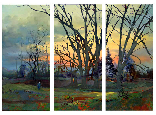 landscape, trees, forest, multi piece trees