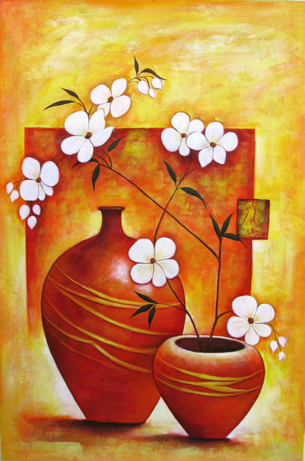 Ensemble 1 - 24in X 36in,RAJEAR16_2436,Acrylic Colors,Pottery,Vase,Flower in Vase  - Buy Paintings online in India