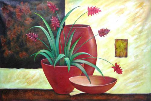 Ensemble 4 - 36in X 24in,RAJEAR19_3624,Acrylic Colors,Pottery,Vase,Beautiful Flower in Vase  - Buy Paintings online in India