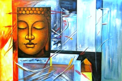 Apo - The Water - 36in X 24in,RAJEAR23_3624,Acrylic Colors,Buddha,Buddhism,Meditation,Peace  - Buy Paintings online in India