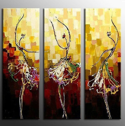 Passion - 36in x 36in (12in X 36in each X 3pcs),RTCSD_02_3636,Passion,Impress,Dance,Multipiece,Museum Quality - 100% Handpainted Buy Painting Online in India.