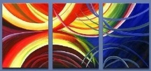 Radient - 48in x 24in (16in X 24in each X 3pcs),RTCSD_04_4824,Multipiece,Museum Quality,Abstract,Waves - 100% Handpainted Buy Painting Online in India.