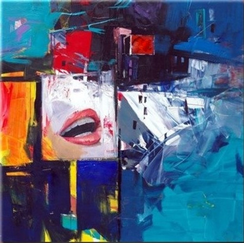 Life - 36in x 36in,RTCSD_25_3636,Lady,Joy,Happy - 100% Handpainted Buy Painting Online in India