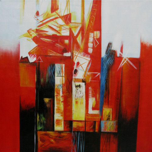 Arrival - 40in x 40in,RTCSD_28_4040,abstract,colors,magic of colors,Happy - 100% Handpainted Buy Painting Online in India