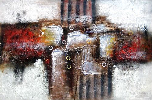Spread the Colors - 48in x 32in,RTCSD_38_4832,Abstract, - 100% Handpainted Buy Painting Online in India