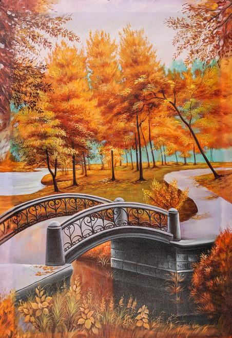 Landscape,Nature,walk way,orange tree,Bridge