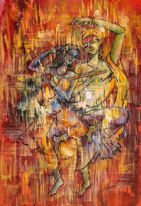 Abstract,Figurative,Couple,Dance