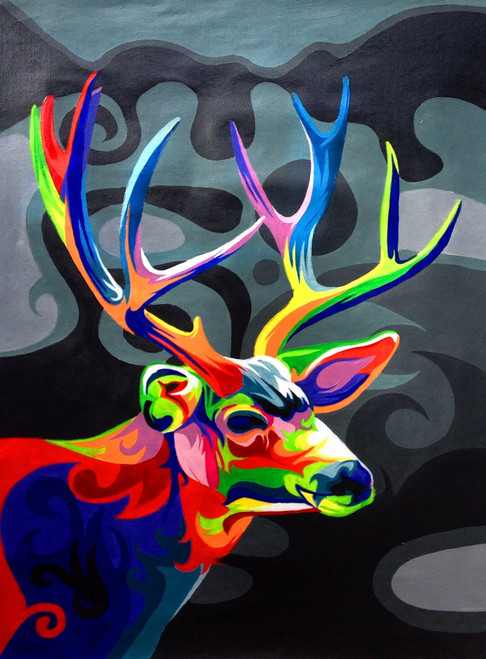 56Anm93 - 24in x 36in,56Anm93_2436,Community Artist Group,Museum Quality,Animal,Wild Animal - 100% Handpainted