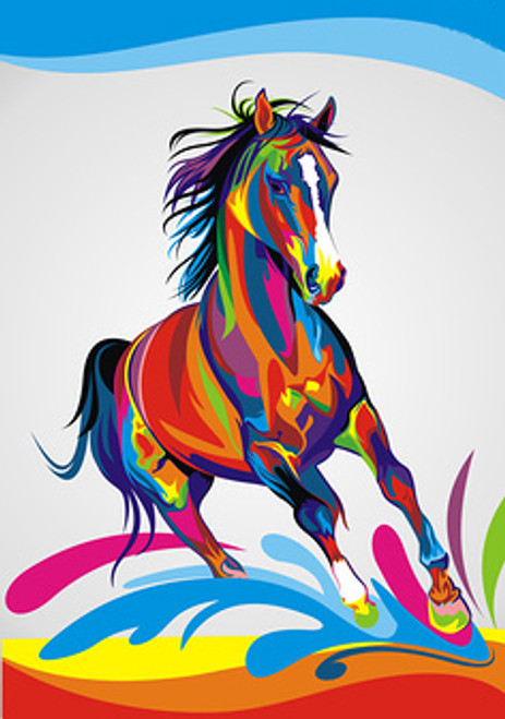 56Anm94 - 24in x 36in,56Anm94_2436,Community Artist Group,Museum Quality,Animal,Wild Animal,Horse,Riding,Race - 100% Handpainted