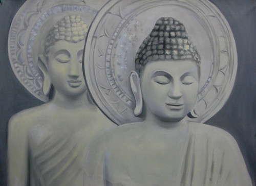 56Buddha32 - 36in x 24in,56Buddha32_36244,Community Artist Group,Museum Quality,Buddha,Blessings - 100% Handpainted