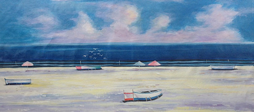 56Seascape69 - 48in x 24in,56Seascape69_4824,Community Artist Group,Museum Quality - 100% Handpainted