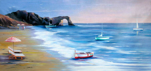 56Seascape52 - 48in x 24in,56Seascape52_4824,Community Artist Group,Museum Quality - 100% Handpainted