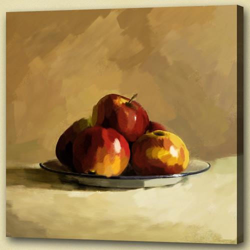 still life, fruits, apples, apple painting