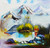Blue Moutain (FR_1523_23825) - Handpainted Art Painting - 32in X 32in