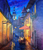 City view painting  (ART_6706_39676) - Handpainted Art Painting - 24in X 36in
