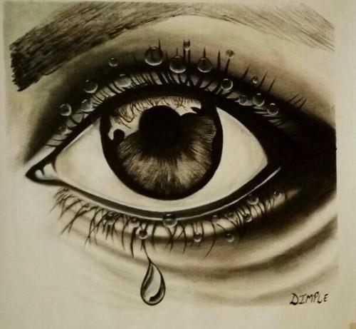 Human Eye Sketch Art