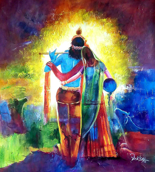 Image result for krishna radha paintings