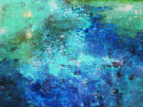 Turqoise Waters Handpainted Art Painting 40in X 30in