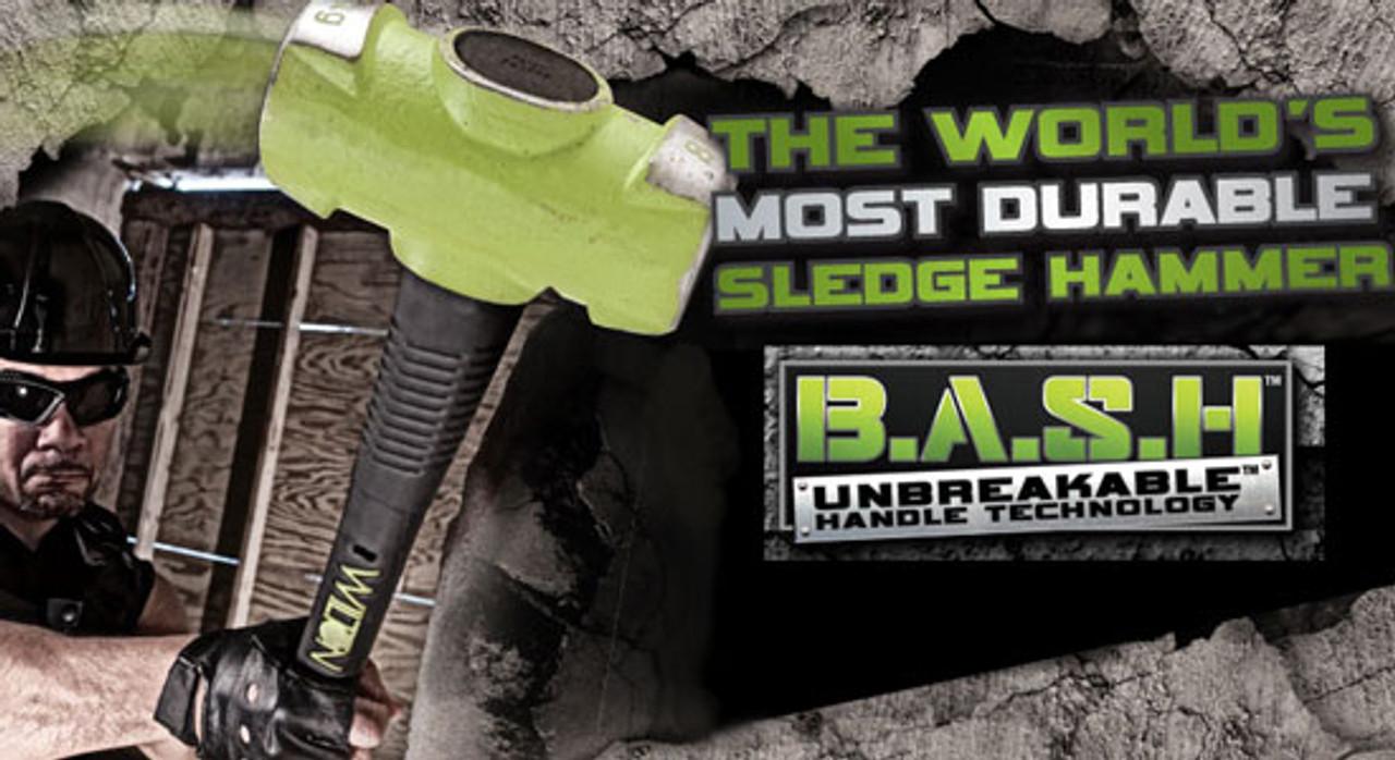 """Wilton B.A.S.H Sledge Hammer 6 lb head 20624 24/"""" handle"""