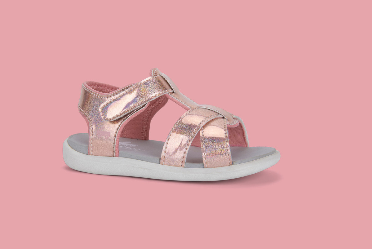 Right Side view of the Shayna Rose Iridescent sandal