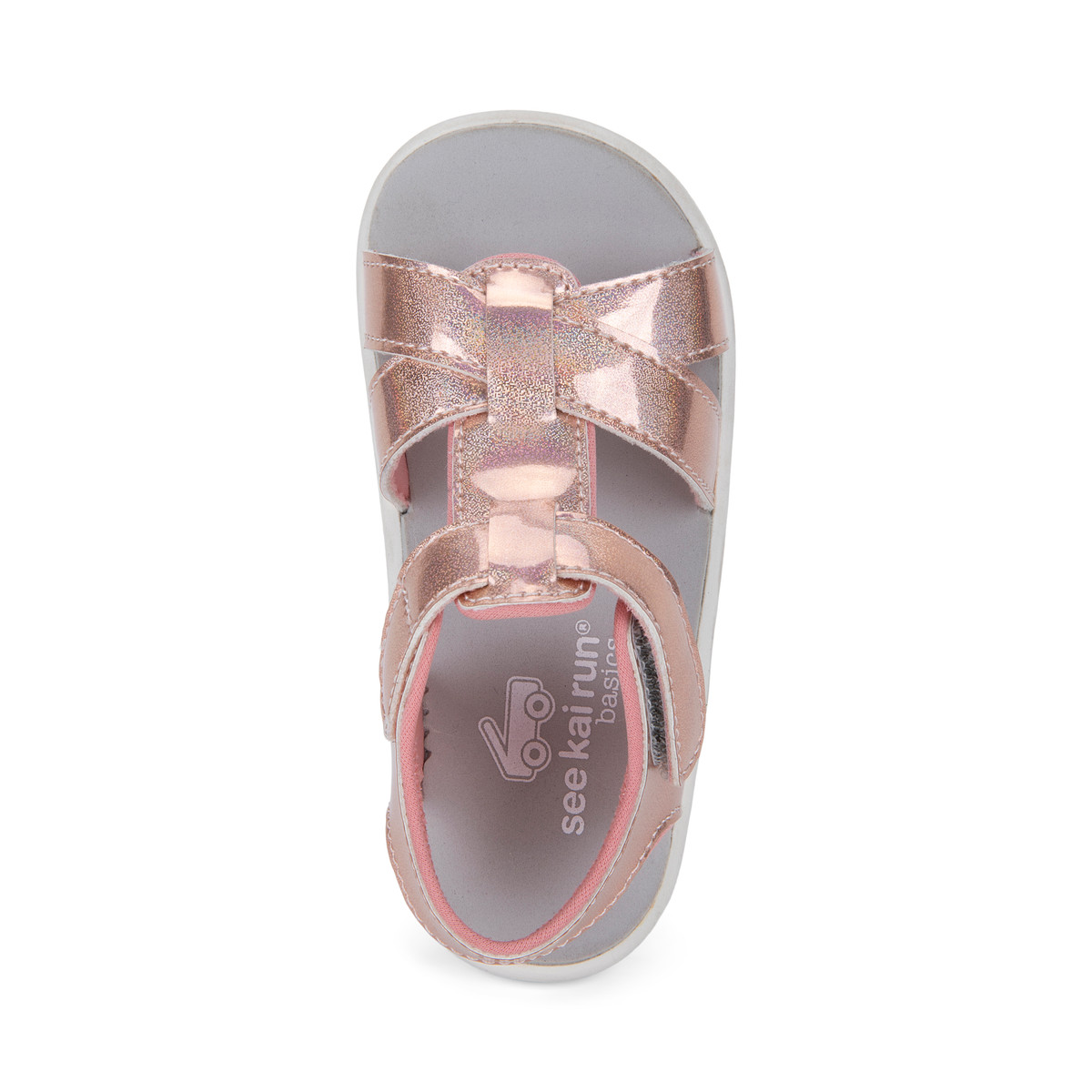 Top Down view of the Shayna Rose Iridescent sandal