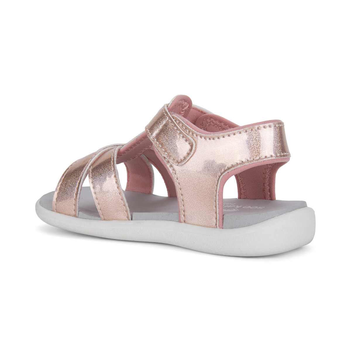 Back Left Side view of the Shayna Rose Iridescent sandal