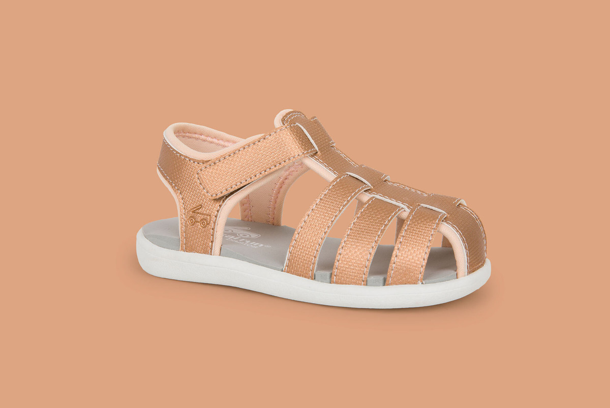 Right Side view of the Posey Rose Gold sandal
