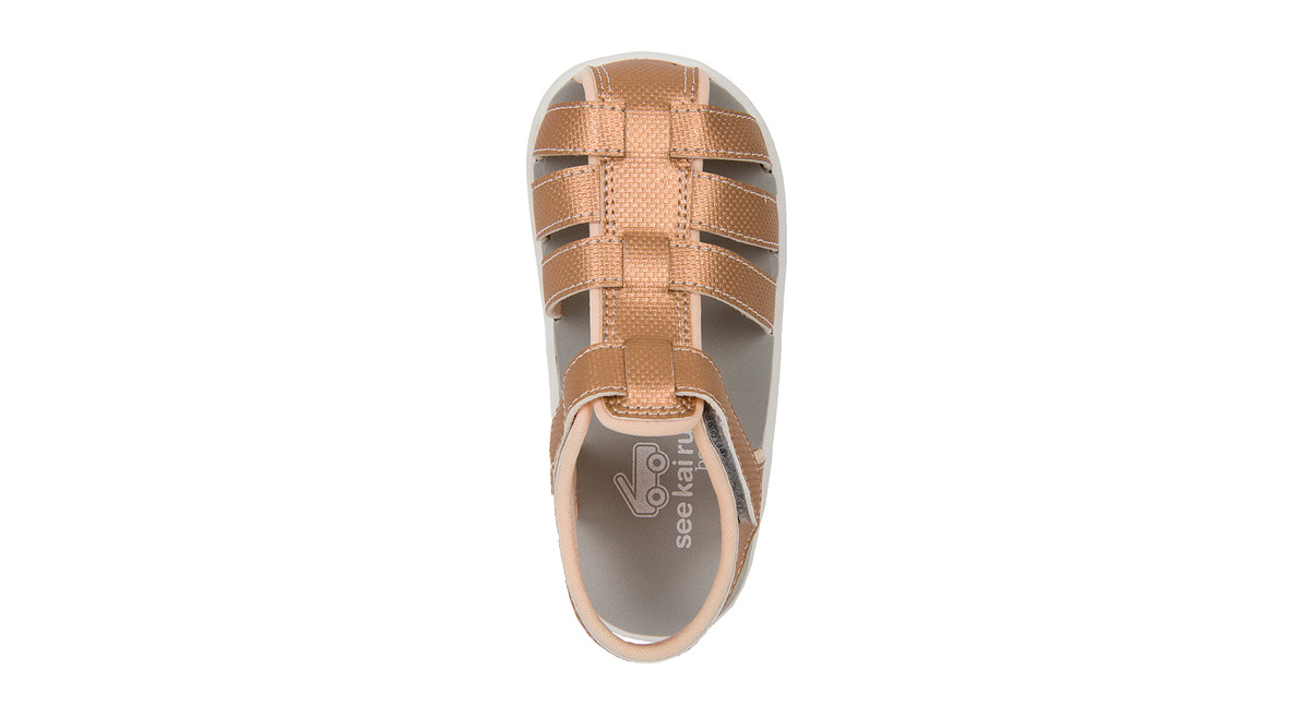 Top Down view of the Posey Rose Gold sandal