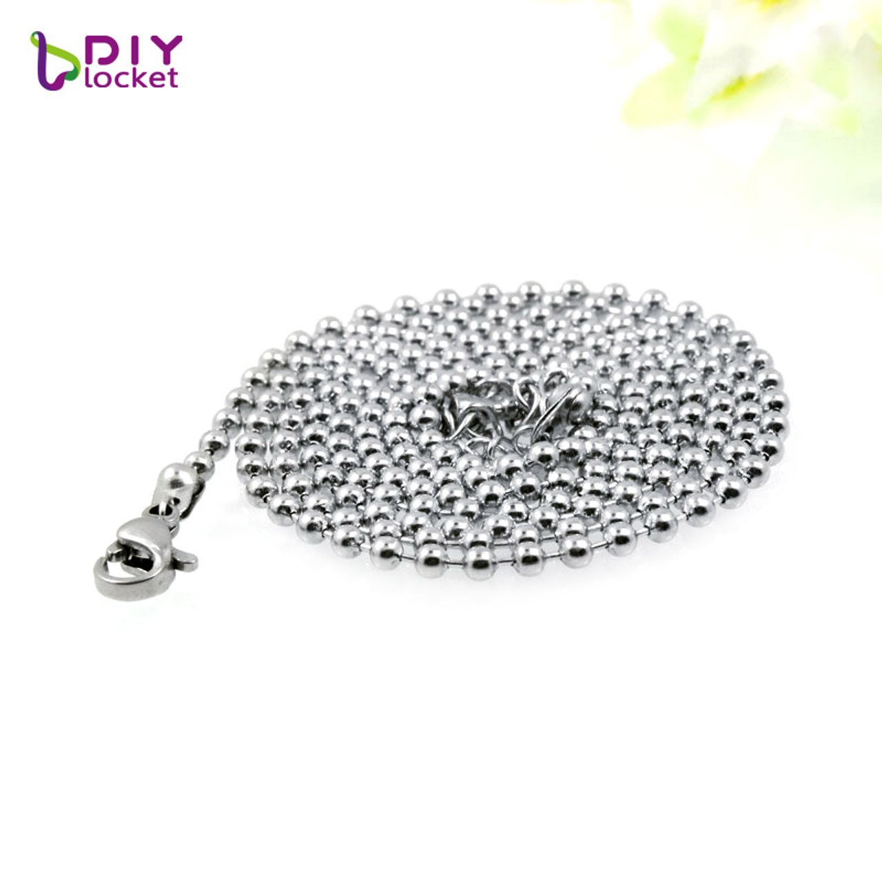 """LOT 10 PCS HIGH QUALITY STAINLESS STEEL BALL CHAIN NECKLACES 30/"""" 2.4MM BEAD"""