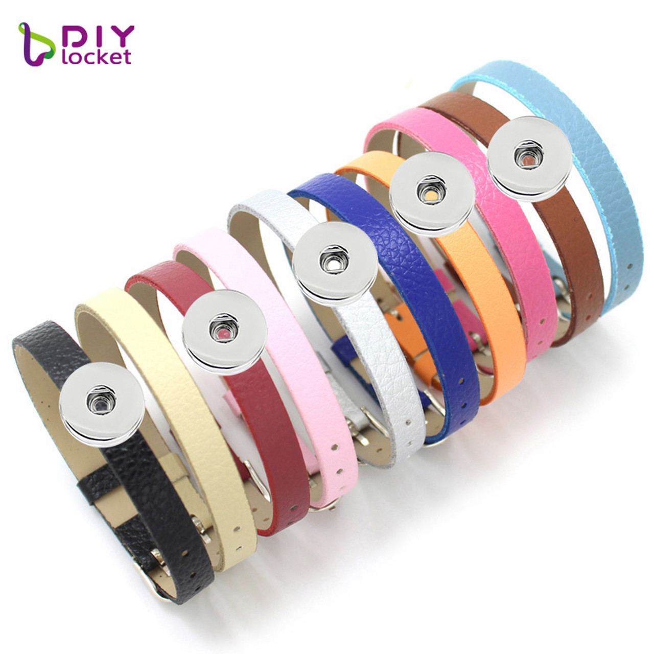 50pcs Mixed color PU Belt Wristband DIY Fit 8mm  Slide Charms Slide letters