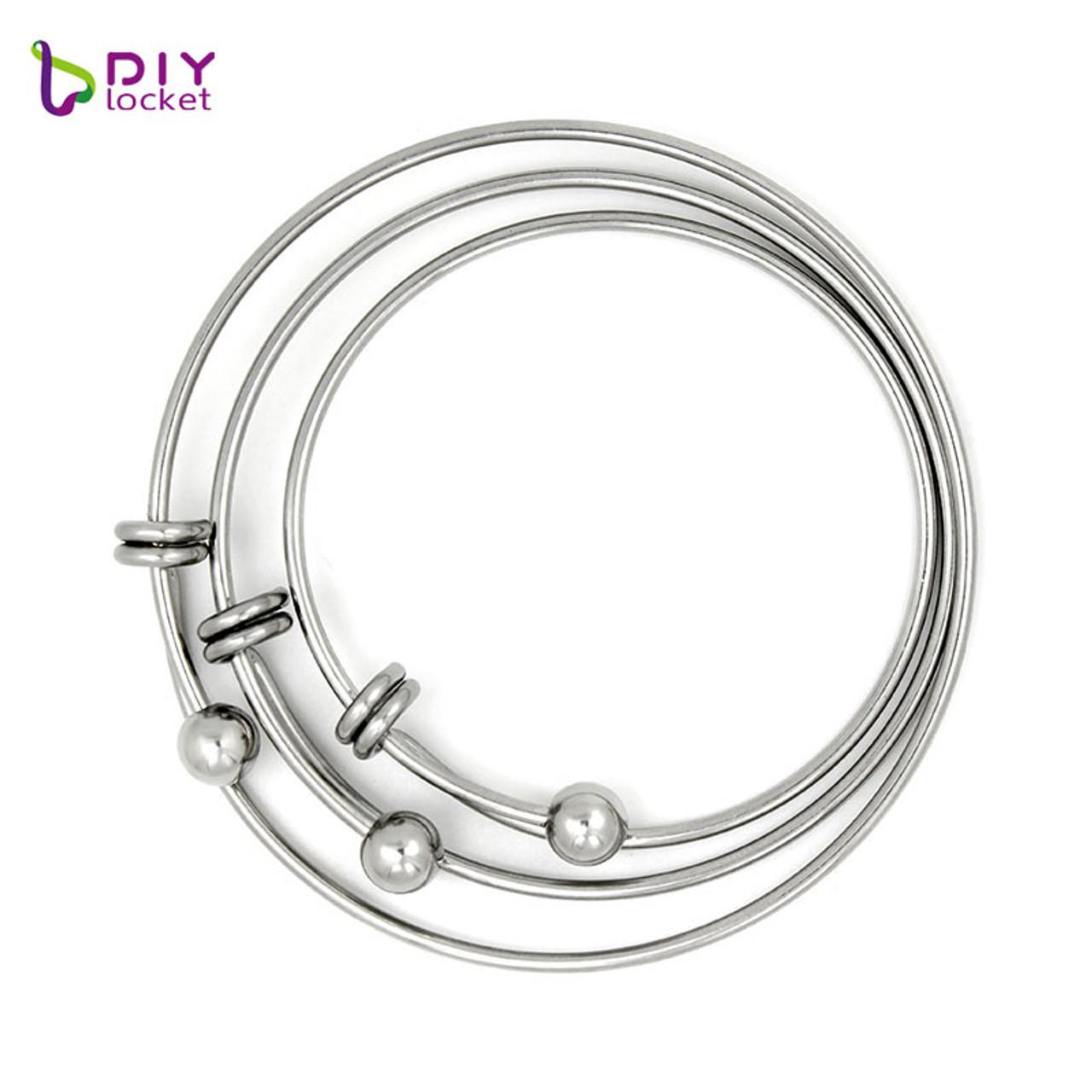 Unique Name Custom Bangle Bracelet Charm Bracelet Silver Alloy Fashion Jewelry