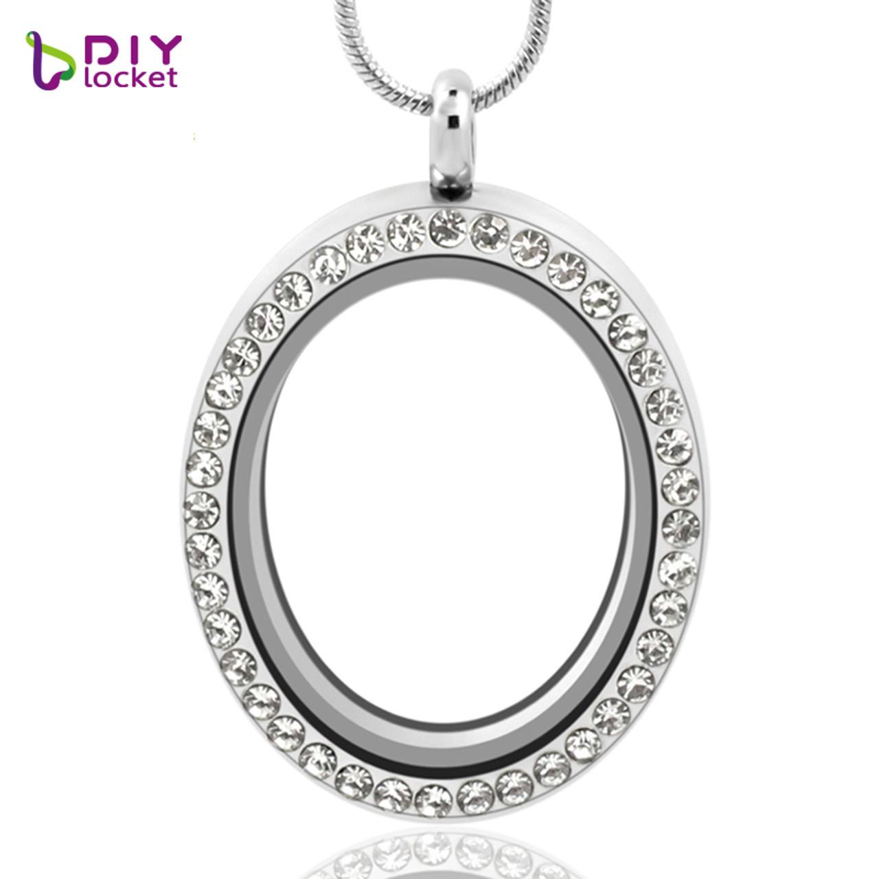Diylocketcom Jewelry Wholesale Oval Floating Locket Pendant 4