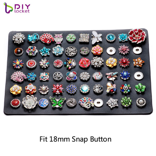 60pc Leather 18mm Snap Button Display LSPB02