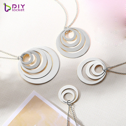 Wholesale Custom Russian ring necklace, Engraved Logo for gift