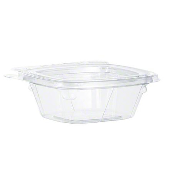 CH4DEF Dart SafeSeal™ 4 Oz. Tamper Evident Plastic Hinged Container