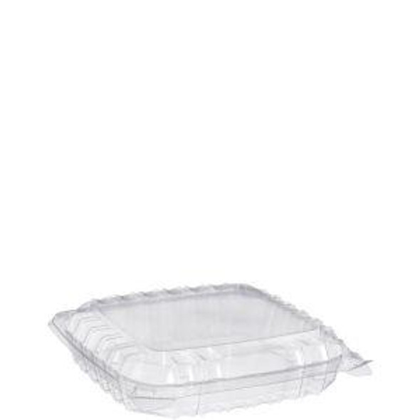 """C89PST1 Dart ClearSeal® Plastic Hinged Container 8"""" x 8"""" x 2"""""""